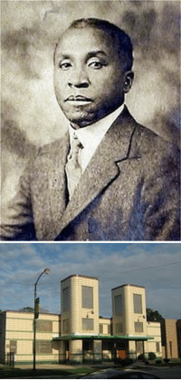 Black History Month, Chicago, and Church: <p>Black history month day 9: architect Walter T. Bailey</p>  <p>Walter Thomas Bailey was born in Kewanee, Illinois on January 11, 1882. He enrolled at the University of Illinois at Urbana-Champaign in 1900 and became the first African-American graduate of the University of Illinois&rsquo; School of Architecture with a bachelor of science in architectural engineering. He was later granted an honorary master&rsquo;s degree in architecture from the university in 1910.</p>  <p>Bailey was the first licensed African-American architect in the state of Illinois. He was appointed as the head of the Mechanical Industries Department at the Tuskegee Institute in in 1905. While there he designed several campus buildings including White Hall (1908), and a girl&rsquo;s dormitory. Pictured here is his First Church of Deliverance, considered a Chicago landmark.</p>