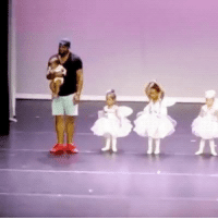 Crying, Dad, and Dance: <p>Dad rescues daughter who started crying during her dance recital.</p>