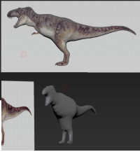 Reality, T Rex, and Model: <p>Expectations VS Reality - Trying to 3D model a T-Rex</p>