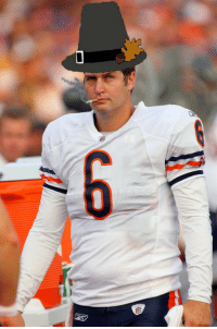 <p>Happy Thanksgiving to everyone from Smokin&rsquo; Jay Cutler!</p>: <p>Happy Thanksgiving to everyone from Smokin&rsquo; Jay Cutler!</p>