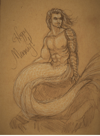 "Happy, Video, and Super: <p>Hey! Happy MerMay! Have a fishboy, and a super-sped up video of drawing this fishboy.</p><figure class=""tmblr-embed tmblr-full"" data-provider=""vimeo"" data-orig-width=""540"" data-orig-height=""304"" data-url=""https%3A%2F%2Fvimeo.com%2F269110236""><iframe src=""https://player.vimeo.com/video/269110236?title=0&amp;byline=0&amp;portrait=0&amp;app_id=122963"" width=""540"" height=""304"" frameborder=""0"" title=""buckets 2"" webkitallowfullscreen="""" mozallowfullscreen="""" allowfullscreen=""""></iframe></figure>"