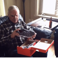 """Old Man, Shoes, and Happy: <p>I hope you all can be as happy as this old man getting a pair of light up shoes :) via /r/wholesomememes <a href=""""http://ift.tt/2ke10Db"""">http://ift.tt/2ke10Db</a></p>"""