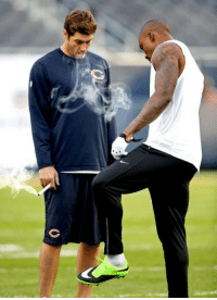 Chicago, Chicago Bears, and Detroit: <p>It&rsquo;s game day! Smokin&rsquo; Jay Cutler is back at the helm, leading Brandon Marshall and the Chicago Bears against the Detroit Lions in a battle for 1st place in the NFC North. Good luck Smokin&rsquo; Jay!</p> <p>Fan submission (courtesy of Tim)</p>
