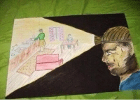 <p>Kid draw this for his dad who work as a Miner Drawing from Bosnian school.</p>: <p>Kid draw this for his dad who work as a Miner Drawing from Bosnian school.</p>