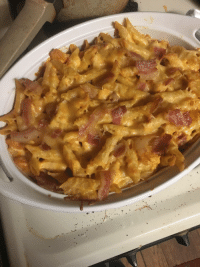 <p>My buffalo chicken pasta with bacon is all ready for the church picnic tomorrow. It's usually a hit.</p>: <p>My buffalo chicken pasta with bacon is all ready for the church picnic tomorrow. It's usually a hit.</p>