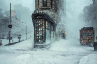 <p>New York winter storm .</p>: <p>New York winter storm .</p>