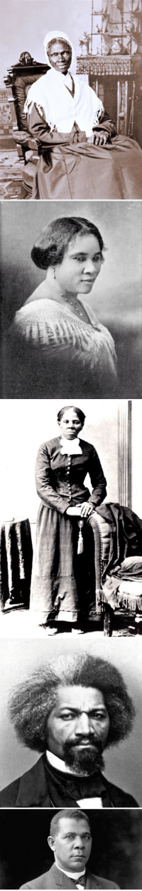 """Black History Month, Harriet Tubman, and Black: <p>Since it is black history month, whatever I may feel on the matter, I decided to share some of the people in black history I find most inspiring:<br/> 1. Sojourner Truth – Slave and eloquent public speaker. Famed for her speech """"Ain't I a Woman?""""<br/> 2. Madame CJ Walker – The first female (of any race) self-made millionaire. Made her fortune selling hair care products.<br/> 3. Harriet Tubman – Escaped slave and emancipator of hundreds<br/> 4. Douglas – Former slave, abolitionist, orator, writer, suffragist, and vice presidential nominee<br/> 5. Booker T. Washington – Foremost black educator of the late 19th and early 20th century. Invaluable in southern race relations.</p>  <p>These men and women made a huge impact in a time where everything was set against them. Not content to simply be victims or hate their perceived oppressors, they did what they could with what they had to make a difference and we remember them for it today by celebrating the many opportunities that the fought for everyone to have.</p>"""