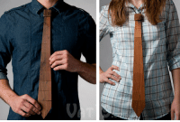"""Target, Http, and Old: <p>The wooden necktie.</p> <blockquote> <p>The Wooden Necktie (<a target=""""_blank"""" href=""""http://www.vat19.com/dvds/wood-tie.cfm"""">34$</a>) is a flexible, lightweight tie that is literally made from wood. No joke. Each Wood Tie is made by hand using reclaimed redwood beams from old barns.</p> <p>An elastic band on the back of the tie holds together the eleven wood segments, which allows the Wood Tie to hang naturally. You can even comfortably toss it over your shoulder. Fits any size neck.</p> </blockquote>"""