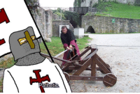 <p>When you want to crusade and somebody brings a Catapult</p>: <p>When you want to crusade and somebody brings a Catapult</p>