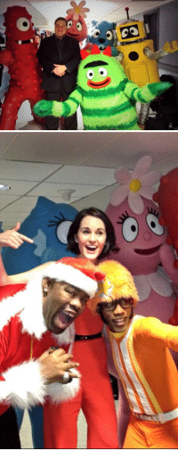 "Biz Markie, Target, and Yo: <p>Yo Gabba Gabba took some pretty amazing photos backstage yesterday.</p> <p>[Top: with John Goodman, Bottom: with Michelle Dockery and Biz Markie]</p> <p><a href=""http://www.youtube.com/watch?v=1Kl9DMsuapQ"" target=""_blank"">Here&rsquo;s their performance</a>.</p>"