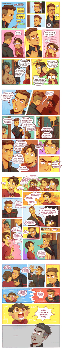 sharpzero:  Guess who got their life back together and is making comics again! read this comic on tapas buy a götdamt comic book ( $5 off with code GIMME5 ) : > NEW MESSAGE  SAMIRA  TINY  PE  JUST GONNA  WEAR A HAT  (H-HI  THANKS FOR  HEARING ME  OuT  HRu?)o  BORED  BIGi  HELLO  ELLIOT  You READY  To Go?  REDSHIFT  REDSHIFT  REDSHIFT  OSHIFT  DO You  REMEMBER  A PHONE CALL  FROM LAST  NIGHT?  ANY ATTEMPT  TO HARM DANEL  S PUNISHABLE  8Y ME, KICKING  youR ASs  HE souNDs  ANGRY ,JEWISH  AND MAKES  COLOR FuL  THPEATS  YEAH THAT WAS  OVERSHADOWED  BY A LOT OF OTHER  HAPPENNGS   FOP WHAT  REASON?  WELL HE D  LIKE TO HAVE  A MEETING  WITH You  0  To DIScuss  CERTAIN  EVENTS  SuCH AS  INFILTRATION,  CONSPIRACY  7  A DEADLY  CHEMICAL SPILL  INDECENT  EXPOSURE  A PHYsICAL  DOMESTIC  TERRORISM  I'M GOING  To REQUEST  THAT YOu CoME  0  SOUNDS  BORING.  WITH METO  SETTLE  THINGS  THIS ALL  OF COURSE,  WILL INVOLVE  A FAIR AMOUNT  OF LEGAL WORK  YOW'RE  BEING  ARRESTED  you MEAN  PAPER WORK?   NAH NAH NAH  NAH NAH NAH NAH  NAH NAH NAH  NAH NAH  NAH NAH  NAH  ME?  NAH NAH  NAH  nci  NO  UNDER  ARREST?  HMM  F HE  WHERE's youR  WARRANT?!  ARREST9 ME  SHOW ME  A BADGE  GOD I WILL  BURN My  REDSHIFT  POSTER  WANNA  SEE IT!!  SEE A  UNIFORM!  I DON T CARE  HOW HANDSoME  You ARE  IT I5 DIFFICuLT  TO IGNORE-!  AM A  VICTIM OF  CIRCuMSTANCE  OH  YEAH?  you oF  ALL PEOPLE  SHOULD KNOW  THAT  You WERE  THERE!!  WELL I  GOT DOu BLE  PROBATION  FOR HELPING  You Guys   SHIT  I DONIT  GET TO coME  HERE IN UANIFORM  I DON'T  EVEN HAVE  THE AUTHORITY  TO ARREST YOu  THEN WHY  ARE YOU  THREATENING  ME?  BECAUSE  YOU'RE A  BRAT!  WELL  YOU'RE A  BIGGER  ONE!  GASP  N TOLD sharpzero:  Guess who got their life back together and is making comics again! read this comic on tapas buy a götdamt comic book ( $5 off with code GIMME5 )