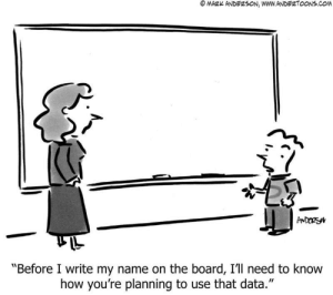 "Privacy 😝: © MARK ANDERSON, WWW.ANDERTOONS.COM  ANDERSYN  ""Before I write my name on the board, I'll need to know  how you're planning to use that data."" Privacy 😝"