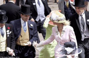 Jeffrey Epstein, Prince Andrew and Ghislaine Maxwell (green dress) at Royal Ascot [June 2000]: © Tim Graham Photo Library via Get Jeffrey Epstein, Prince Andrew and Ghislaine Maxwell (green dress) at Royal Ascot [June 2000]