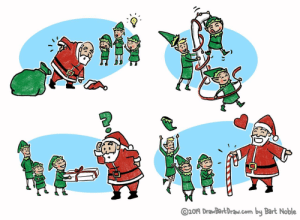 Wholesome Holidays: ©2019 DrawBartDraw.com by Bart Noble  ह Wholesome Holidays