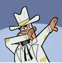 Doug Dimmadab, Owner of the Dimmsdale Dabbadome: ˇ  0 Doug Dimmadab, Owner of the Dimmsdale Dabbadome