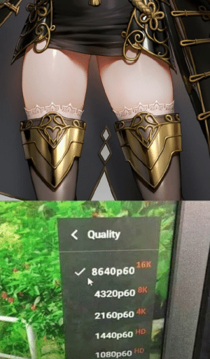Thick thighs save lives: алод  Quality  16K  8640р60  4320р60 8K  АК  2160р60  HD  1440р60  HD  1080р60 Thick thighs save lives