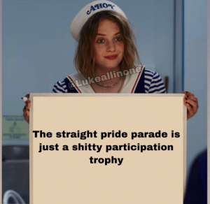 LiBtArD: Ано  Lukeallinone  The straight pride parade is  just a shitty participation  trophy LiBtArD