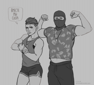 Love, Too Much, and Tumblr: ВМЕСТЕ  МЫ  СИЛА  5.14.18  terrorwatt.tumblr.com zaffyrr:  This quote seems familiar.. I love it too much.Finka (plus Tachanka) for anon.