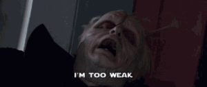 When my boss calls me and asks if I can work today: Гм TOO WEAK When my boss calls me and asks if I can work today