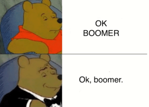 Kids, Dank Memes, and Boomers: ОК  ВОOMER  Ok, boomer  (CF STOP CALLING OTHER KIDS BOOMERS.