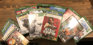 Indianapolis Colts, Family, and Lego: ХВОХONE  XPOXONE  XBOXONE  DIS  ХВОXONE  BLACK DON  IGGO AZALEAR RITA ORA  MAN  XBOXONE  SUBNA  LEGO MARE  ХВОХONE  PRE  XBOXONE  LEGO MENSIONS  XBOXONE  ХВОХ 360  360  ONLY ON XBOX ONE  ADTC  RARE REPL  30 HIT GAMES ONE EPIC COL  BATMA  ARKH  СIT  ER  ROCKSTAR GAMES PRESENTS  LiV  RED DEAD  REDENPTION  COLTS  ES  EVERYNEMATUE 74  E-M  ESRB rb.org  MATURE 17  TEEN  T 3D  SA  ESRB  OLDY  TO sen Vialent  THE  SIMS4  XBOXONE  The  LATINUMHITS  family  games  g  xbox.com/banjo  n  XBOXONE  Microsoft  oe tudies  XBOXONE  Microsoft  EVERYONE  E  8OX 60ME  EYER MAE  Onme  XBOX 360  GEA  TRE BEST  GAME OF THE YEAR EDITIUN  EPIC  Microsoft  gemextudaios  COMPLETE After moving twice and being without them for like 2 or 3 years, I finally found my Xbox games!
