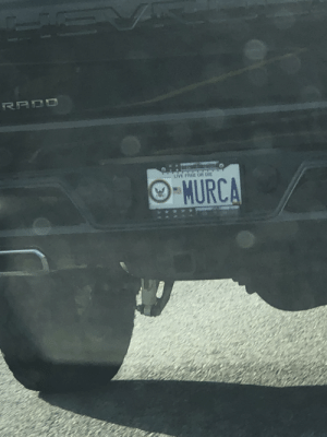 Free, Live, and Navy: सन त  LIVE FREE OR DIE  O-MURCA Illegally obscuring license plate with a navy sticker on the 26% interest pavement princess just to be boot