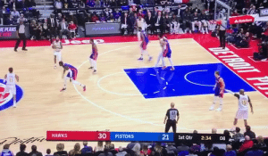 Trae Young's range is absurd🔥 https://t.co/zRECI2pr7e: గాకురియ!  ంn  na  LigeCarars  LatkCars  DET  arna  AStateRem  ME PLANS  ENOW  PISTONS.COM  ZEROT P  15  51  30  HAWKS  PISTONS  21  1st Qtr  2:34  08 Trae Young's range is absurd🔥 https://t.co/zRECI2pr7e