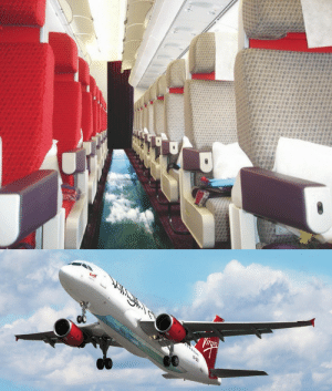 Virgin Atlantic just launched the first ever glass bottomed plane. When you look down you get a bird's eye view of the beautiful scenery of Great Britain. Flights begin March 31st, 2013.  : ి  పవ ిిచి  p00000000000  00000000   Virgin  Virgin Atlantic just launched the first ever glass bottomed plane. When you look down you get a bird's eye view of the beautiful scenery of Great Britain. Flights begin March 31st, 2013.