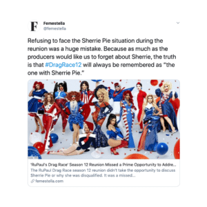 'Drag Race' Season 12 Reunion Missed a Prime Opportunity to Address Sherrie Pie Head-On: 'Drag Race' Season 12 Reunion Missed a Prime Opportunity to Address Sherrie Pie Head-On