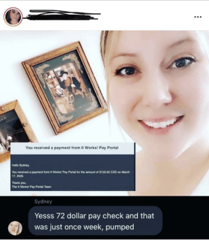 """""""72 dollar paycheck"""" ..... but how much did you have to spend first? ;) also so tacky posting their paydays. Normal people don't have to do this.: """"72 dollar paycheck"""" ..... but how much did you have to spend first? ;) also so tacky posting their paydays. Normal people don't have to do this."""