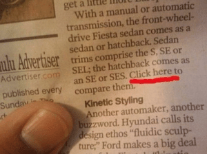 """Click Here"" in a printed Newspaper?: ""Click Here"" in a printed Newspaper?"