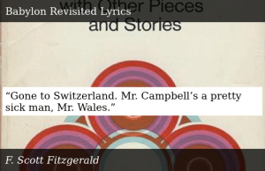 """SIZZLE: """"Gone to Switzerland. Mr. Campbell's a pretty sick man, Mr. Wales."""""""