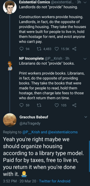 """Librarians are book landlords"" is a take I never thought I'd hear: ""Librarians are book landlords"" is a take I never thought I'd hear"