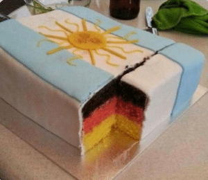 """My Argentine friend was upset about their loss in the World Cup so I made him a cake...We aren't friends anymore"". (2014) https://t.co/w1FwrbQSOA: ""My Argentine friend was upset about their loss in the World Cup so I made him a cake...We aren't friends anymore"". (2014) https://t.co/w1FwrbQSOA"