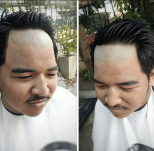 """""""Yeah give me that receding hairline look"""": """"Yeah give me that receding hairline look"""""""