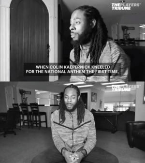"""""""All he was protesting was police brutality — unarmed black men that were being killed.""""  In 2017, @RSherman_25 shared his thoughts on Colin Kaepernick's kneeling protest in his first-person video series 'Out of Context.'   📽️: https://t.co/ArifgcNTMh https://t.co/rs4GXpKEjY: """"All he was protesting was police brutality — unarmed black men that were being killed.""""  In 2017, @RSherman_25 shared his thoughts on Colin Kaepernick's kneeling protest in his first-person video series 'Out of Context.'   📽️: https://t.co/ArifgcNTMh https://t.co/rs4GXpKEjY"""
