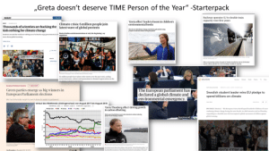 "Guys do you think Greta made enough impact to justify TIME Person of the year: ""Greta doesn't deserve TIME Person of the Year"" -Starterpack  Railway operator SJ to double train  capacity over five years  nature  Subscribe  ""Greta effect' leads to boom in children's  environmental books  Climate crisis: 6 million people join  latest wave of global protests  NEWS  14 MARCH 2019  Thousands of scientists are backing the  kids striking for climate change  The 16-year old climate change activist has gahvanised young  people toread more about saving the planet  Students around the world are walking out of school to urge governments to di Week of strikes and demonstrations is 'only the beginning', say  more about global warming.  organisers  Muhe We  CAPI ASMO  CLIMATE TRUIH Ar SCHOOLS  Raleay operor Sivest in s0 longdstance tains and 50 regional tans. Phon Jon Olav  Nesvold / NT scanpix/T  SUACTS  A The dmtechange  aThueg c  Climate chang  b e eemoee hgr  e hoga wtngku s  After an increasing number of people in Sweden travelled by train in 2019s third  quarter, railway operator Sis now investing to double its capacity  o  theuberof youngleadng t  The. o  Goardian  613  Edaton  A Demonstrators in Lisbon on friday, partof a global climate sike joned by an estimated 2 milion people  worldwide. hotograph Pa de ele More etty imagen  60  Six million people have taken to the streets over the past week, uniting  across timezones, cultures and generations to demand urgent action on the  Lescalatine ecolocical.cmeroency  59  58  Abrany diute prott by tdemanden  Owwtor taymanoatheotoreny  O REUTERS  Business Markts Word  Politics TV  More  (+ Add te myPT  European Parliament elections  SUSTAINABLE BIE  The European parliament has  declared a global climate and  environmental emergency.  Green parties emerge as big winners in  European Parliament elections  Swedish student leader wins EU pledge to  spend billions on climate  Bloc has historically sought to punch above its weight in parliament  Clare Roch  Verlauf des Wahitrends (Umfrageverlauf) von August 2017 bis August 2019  Darstellung Linien Bereich 2 Jahve Endmonat August 2019  • COU/CsU • SPO Grüne • AfD Linke O FDP  ""Greta Thunberg effect' driving growth  in carbon offsetting  BRUSSELS (Reuters) - The European Union should spend handreds of billions of euros  combating climate change during the next decade, its chief executive said on Thursday,  responding to a Swedish teen who has inspired a global movement of children against  global warming.  40  NGOs report fourfoldincreases in imvestments in carbon-reducing  projects in developing countries  35  [applause  30  25  20  15  10  INTS  G. Thunbeg  SOENC  The German Green party's top candidate Sven Giego  ASONDJ.F.M.AMJ.JASON.DJ.F.MAM.JJ.A  AThe eta Thube gd ndgtot the sy  Tonias SchwarzAFP  2017  2018  2019  Growing concern about the climate crisis and the ""Greta Thunberg effect"" ace  driving huge increases in individuals and businesses choosing to offset their  aCubonuedacing polecte in dealorina ount  SKOLSTDE IK  Jim Brunsden in Brussels MAY 28 2019 Guys do you think Greta made enough impact to justify TIME Person of the year"