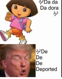 Haircut, Memes, and Bowling: がDa da  Da dora  De  Deported  ad  Da  Deee She deserve to be deported for having a coconut bowl haircut. Fuck she thining walking around in public with that. • ➫➫ Follow @savagememesss for more posts daily
