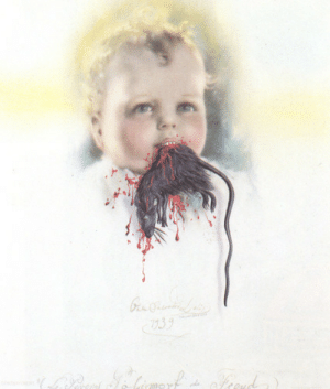 Tumblr, Blog, and Http: く239 artist-dali:  Bulgarian Child Eating a Rat, 1939, Salvador Dali
