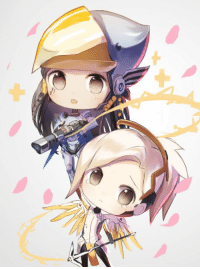 Chibi Pharah and Mercy by red flowers Overwatch: の Chibi Pharah and Mercy by red flowers Overwatch