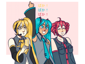 xlerotl:  triple baka was the first vocaloid song i ever heard so here is a tribute: ばか!  ばか!  ばか!  XLEROTE  @devantart  @tublr  @twrer  @instac am xlerotl:  triple baka was the first vocaloid song i ever heard so here is a tribute