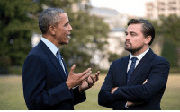 びなぬ Am I jealous of Obama for meeting Leo? Or jealous of Leo for meeting Obama?