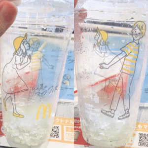 Cups in Japanese McDonald's: クドナルが  ポンを  2  t  ew  ORD Cups in Japanese McDonald's