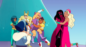 Tumblr, Blog, and Image: クリ tolstoyevskywrites:  I cannot handle this image of Perfuma hugging Shadow Weaver at the end of 03x06. ONLY PERFUMA WOULD DARE.
