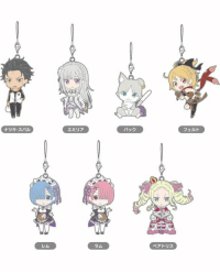 Nendoroid Plus: Re:ZERO -Starting Life in Another World- Collectible Rubber Straps are available for pre-order now! Get your beloved, best girl Rem and some other characters in this set today!   http://goodsmileshop.com/en/p/GSC_GDS_WD_00470: ナツキスバレ  @SUD  エミリア  パック  フェルト  翕  Va  ラム  ベアトリス Nendoroid Plus: Re:ZERO -Starting Life in Another World- Collectible Rubber Straps are available for pre-order now! Get your beloved, best girl Rem and some other characters in this set today!   http://goodsmileshop.com/en/p/GSC_GDS_WD_00470