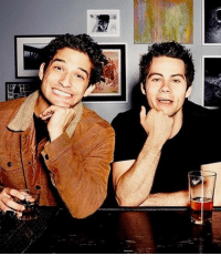 """Definitely, Memes, and Pressure: リ  er Tyler Posey on lack of sciles scenes this season on Teen Wolf: - """"Man, it's weird!"""" Tyler Posey told HollywoodLife.com. """"It is definitely weird. Because Dylan [O'Brien] and I have been literally the only two dudes since the very beginning. It has been me and him, me and him, me and him, me and him! Always, every single day, we would have the same routine. We are the same dude. So we really relate with one another. We fell in love with one another. Every time we were on the set we would help each other with stress, and everything that comes with filming a TV show. And without him there I looked around at one point and I was filming a scene and everyone that was in the scene with me was new and I felt like this veteran and I was like, 'I really miss Dylan!'"""" - """"I know he wants to be here,"""" Tyler continued. """"I know that he is so busy and everything. I know he feels the same way as me! So it is definitely a little bizarre, but he is there every single day in my head and in my heart and everyone's hearts. He is such a part of that set. He built that set with me. He and I were the people who wanted to make the set fun and productive and professional and silly and goofy and emotional and real. So we just did everything, and doing it without him is a lot of pressure on me because we both did it together but you know. I miss him!"""""""