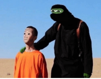 Isis Pepe with Wojak Hostage [Rare]: ㅎ.) Isis Pepe with Wojak Hostage [Rare]