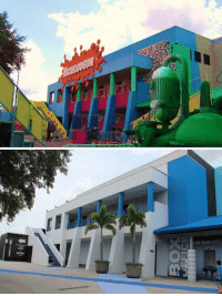 Memes, Nickelodeon, and 🤖: 亏   LUE MAN GROU Nickelodeon Studios 20 years ago vs. Nickelodeon Studios today... this is depressing