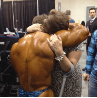 Memes, Taken, and Survivor: 几 A photo taken at the @mrolympiallc backstage a few years ago with my Mam, a multiple cancer survivor and one the biggest motivations in my life! - My WomanCrushWednesday @angela_lew celebrating a crazy year of treatments, with good result in Vegas. MommasBoy Olympia212 flexlewis FckCancer