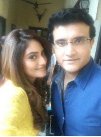 Memes, Bengali, and 🤖: 厂 Former Indian skipper Sourav Ganguly. strikes a pose with Bengali actress Nusrat Jahan.